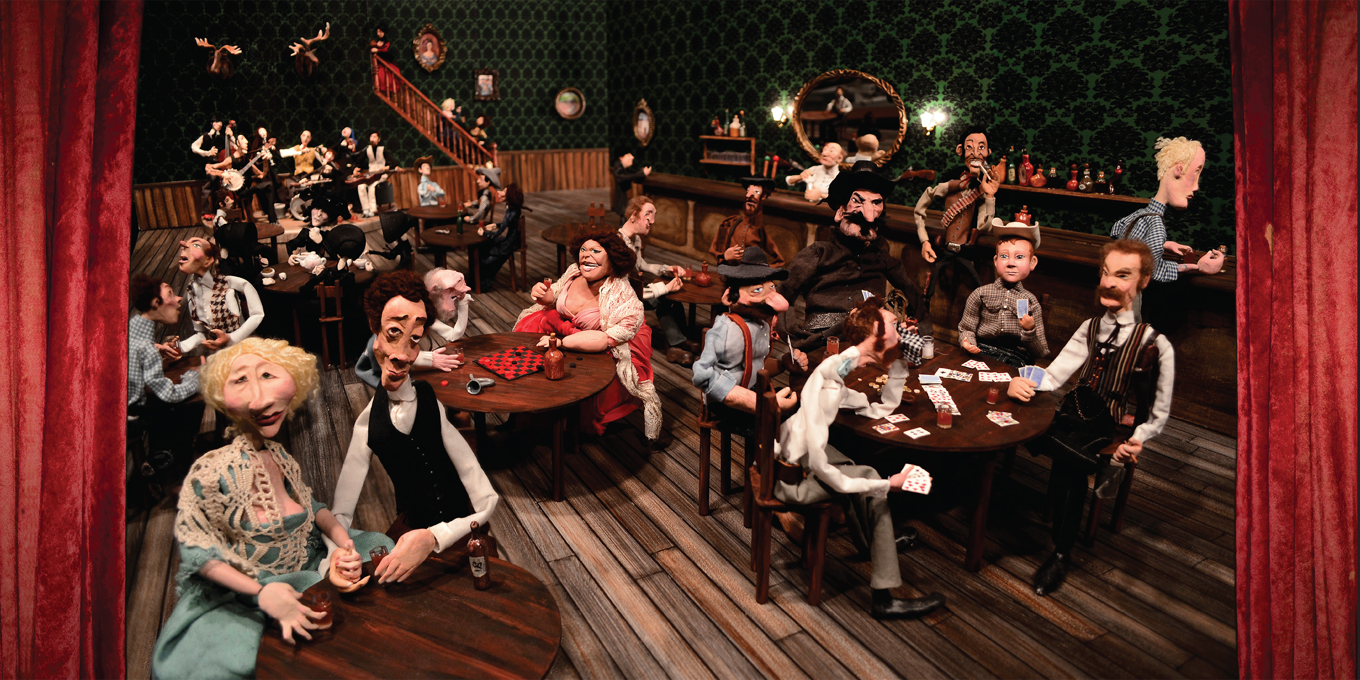 The saloon scene that appears in the gatefold